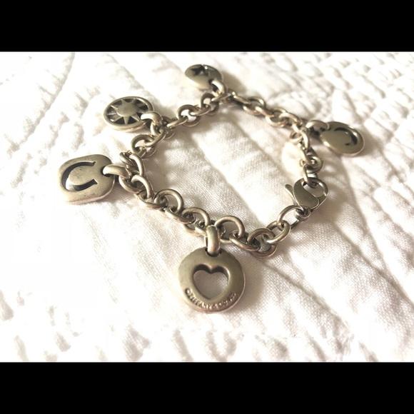656004c74 Tiffany & Co. 5 Charm Stencil Silver Bracelet. M_5b596d36283095b56c3eb57e
